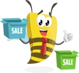Bee Businessman Cartoon Vector Character AKA Lee the Business Bee - Sale