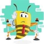 Bee Businessman Cartoon Vector Character AKA Lee the Business Bee - Shape 10