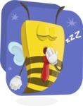 Bee Businessman Cartoon Vector Character AKA Lee the Business Bee - Shape 11
