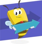 Bee Businessman Cartoon Vector Character AKA Lee the Business Bee - Shape 12
