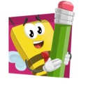 Bee Businessman Cartoon Vector Character AKA Lee the Business Bee - Shape 3