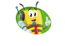 Bee Businessman Cartoon Vector Character AKA Lee the Business Bee - Shape 4