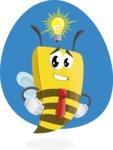 Bee Businessman Cartoon Vector Character AKA Lee the Business Bee - Shape 7
