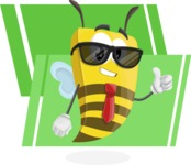 Bee Businessman Cartoon Vector Character AKA Lee the Business Bee - Shape 9