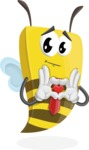 Bee Businessman Cartoon Vector Character AKA Lee the Business Bee - Show Love