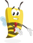 Bee Businessman Cartoon Vector Character AKA Lee the Business Bee - Showcase 2