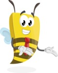 Bee Businessman Cartoon Vector Character AKA Lee the Business Bee - Showcase
