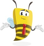 Bee Businessman Cartoon Vector Character AKA Lee the Business Bee - Sorry