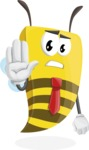 Bee Businessman Cartoon Vector Character AKA Lee the Business Bee - Stop