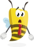 Bee Businessman Cartoon Vector Character AKA Lee the Business Bee - Stunned