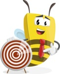 Bee Businessman Cartoon Vector Character AKA Lee the Business Bee - Target