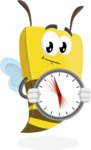 Bee Businessman Cartoon Vector Character AKA Lee the Business Bee - Time is Yours