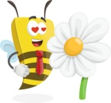 Bee Businessman Cartoon Vector Character AKA Lee the Business Bee - Turned off