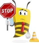 Bee Businessman Cartoon Vector Character AKA Lee the Business Bee - Under Construction 1