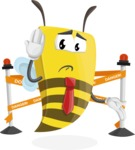 Bee Businessman Cartoon Vector Character AKA Lee the Business Bee - Under Construction 2