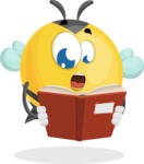 Simple Style Bee Cartoon Vector Character AKA Mr. Bubble Bee - Book 1