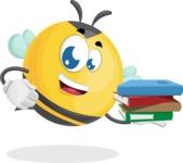 Simple Style Bee Cartoon Vector Character AKA Mr. Bubble Bee - Book 2