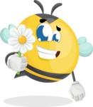 Simple Style Bee Cartoon Vector Character AKA Mr. Bubble Bee - Book and iPad