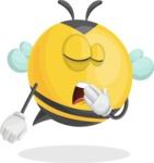 Simple Style Bee Cartoon Vector Character AKA Mr. Bubble Bee - Bored 2