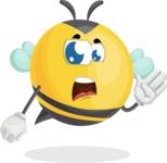 Simple Style Bee Cartoon Vector Character AKA Mr. Bubble Bee - Bored