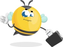 Simple Style Bee Cartoon Vector Character AKA Mr. Bubble Bee - Brifcase 1