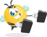 Simple Style Bee Cartoon Vector Character AKA Mr. Bubble Bee - Brifcase 3