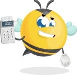 Simple Style Bee Cartoon Vector Character AKA Mr. Bubble Bee - Calculator