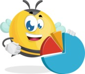 Simple Style Bee Cartoon Vector Character AKA Mr. Bubble Bee - Chart