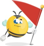 Simple Style Bee Cartoon Vector Character AKA Mr. Bubble Bee - Checkpoint
