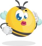 Simple Style Bee Cartoon Vector Character AKA Mr. Bubble Bee - Duckface