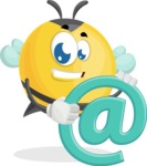 Simple Style Bee Cartoon Vector Character AKA Mr. Bubble Bee - Email