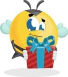 Simple Style Bee Cartoon Vector Character AKA Mr. Bubble Bee - Gift