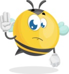 Simple Style Bee Cartoon Vector Character AKA Mr. Bubble Bee - Goodbye