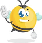 Simple Style Bee Cartoon Vector Character AKA Mr. Bubble Bee - Hello