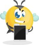 Simple Style Bee Cartoon Vector Character AKA Mr. Bubble Bee - iPad 1