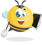 Simple Style Bee Cartoon Vector Character AKA Mr. Bubble Bee - iPad3