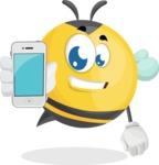 Simple Style Bee Cartoon Vector Character AKA Mr. Bubble Bee - iPhone