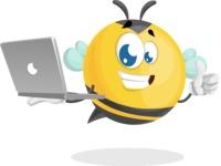 Simple Style Bee Cartoon Vector Character AKA Mr. Bubble Bee - Laptop 1