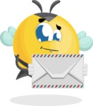 Simple Style Bee Cartoon Vector Character AKA Mr. Bubble Bee - Letter
