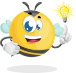 Simple Style Bee Cartoon Vector Character AKA Mr. Bubble Bee - Light Switch