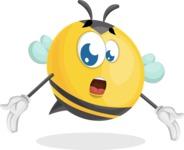 Simple Style Bee Cartoon Vector Character AKA Mr. Bubble Bee - Lost