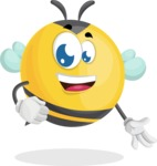 Simple Style Bee Cartoon Vector Character AKA Mr. Bubble Bee - Normal