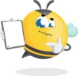 Simple Style Bee Cartoon Vector Character AKA Mr. Bubble Bee - Notepad 1