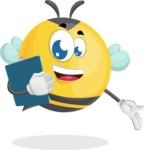 Simple Style Bee Cartoon Vector Character AKA Mr. Bubble Bee - Notepad 2