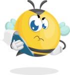 Simple Style Bee Cartoon Vector Character AKA Mr. Bubble Bee - Notepad 3
