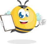 Simple Style Bee Cartoon Vector Character AKA Mr. Bubble Bee - Notepad 4