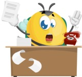 Simple Style Bee Cartoon Vector Character AKA Mr. Bubble Bee - Office Fever