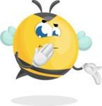 Simple Style Bee Cartoon Vector Character AKA Mr. Bubble Bee - Oops