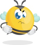 Simple Style Bee Cartoon Vector Character AKA Mr. Bubble Bee - Patient