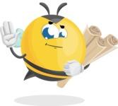 Simple Style Bee Cartoon Vector Character AKA Mr. Bubble Bee - Plans